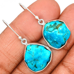 Arizona Turquoise 925 Sterling Silver Earrings Jewelry SBTE222
