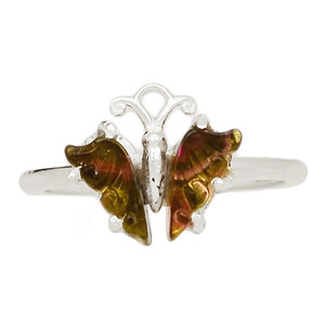 Butterfly Tourmaline 925 Sterling Silver Ring Jewelry s.6.5 BFTR12