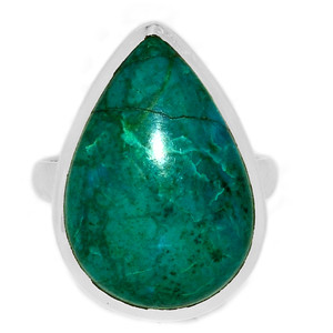 Chrysocolla Peru 925 Sterling Silver Ring Jewelry s.9 CCPR435