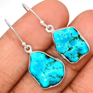 Arizona Turquoise 925 Sterling Silver Earrings Jewelry SBTE205