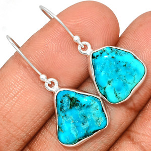 Arizona Turquoise 925 Sterling Silver Earrings Jewelry SBTE217