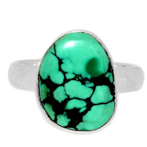 Tibetan Turquoise 925 Sterling Silver Ring Jewelry s.7.5 TQSR2069