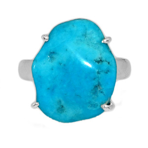 Arizona Turquoise 925 Sterling Silver Ring Jewelry s.7 SBTR995