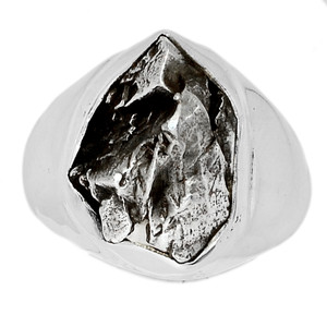 Meteorite Campo Del Cielo 925 Sterling Silver Ring Jewelry s.8 MCDR1434