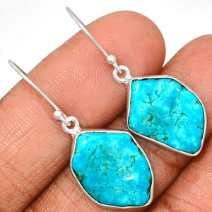 Arizona Turquoise 925 Sterling Silver Earrings Jewelry SBTE216