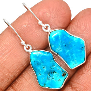 Arizona Turquoise 925 Sterling Silver Earrings Jewelry SBTE228