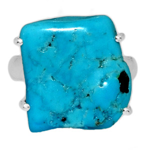 Arizona Turquoise 925 Sterling Silver Ring Jewelry s.6 SBTR1001