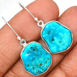 Arizona Turquoise 925 Sterling Silver Earrings Jewelry SBTE231
