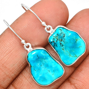 Arizona Turquoise 925 Sterling Silver Earrings Jewelry SBTE238