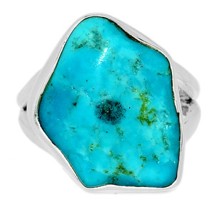 Arizona Turquoise 925 Sterling Silver Ring Jewelry s.6 SBTR1056