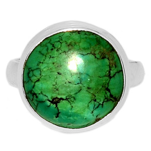 Tibetan Turquoise 925 Sterling Silver Ring Jewelry s.7 TQSR2043