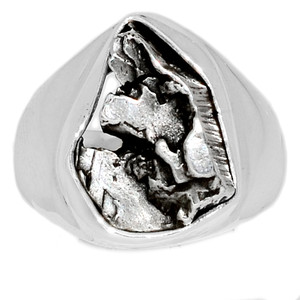 Meteorite Campo Del Cielo 925 Sterling Silver Ring Jewelry s.7.5 MCDR1436