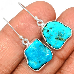Arizona Turquoise 925 Sterling Silver Earrings Jewelry SBTE218
