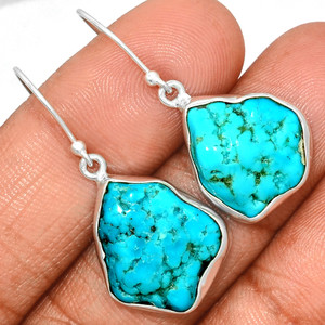 Arizona Turquoise 925 Sterling Silver Earrings Jewelry SBTE225