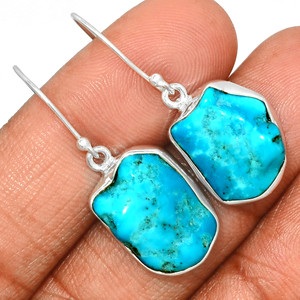 Arizona Turquoise 925 Sterling Silver Earrings Jewelry SBTE234