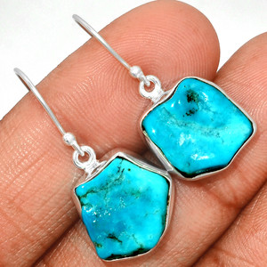 Arizona Turquoise 925 Sterling Silver Earrings Jewelry SBTE208