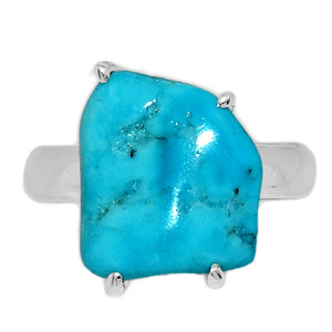 Arizona Turquoise 925 Sterling Silver Ring Jewelry s.6 SBTR1024