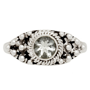 Crystal 925 Sterling Silver Ring Jewelry s.8 CRYR1426