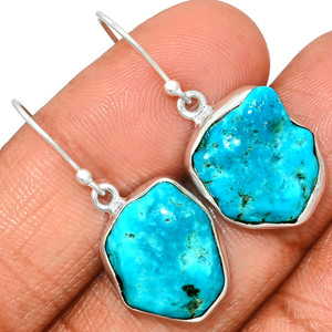 Arizona Turquoise 925 Sterling Silver Earrings Jewelry SBTE211