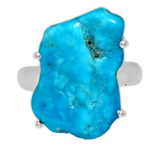 Arizona Turquoise 925 Sterling Silver Ring Jewelry s.7.5 SBTR1018
