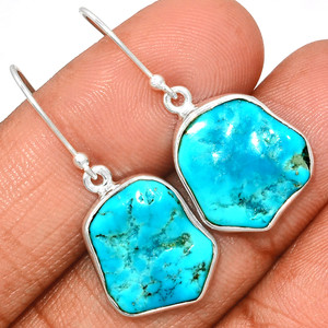 Arizona Turquoise 925 Sterling Silver Earrings Jewelry SBTE227