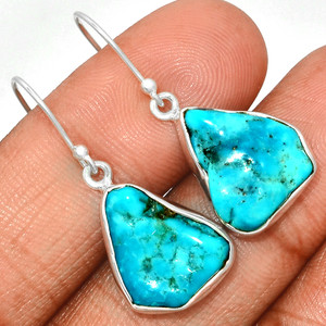 Arizona Turquoise 925 Sterling Silver Earrings Jewelry SBTE213