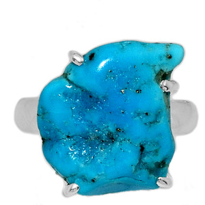 Arizona Turquoise 925 Sterling Silver Ring Jewelry s.6 SBTR1037