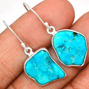 Arizona Turquoise 925 Sterling Silver Earrings Jewelry SBTE230