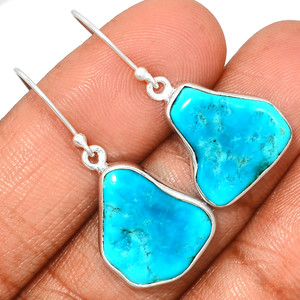 Arizona Turquoise 925 Sterling Silver Earrings Jewelry SBTE220
