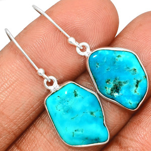 Arizona Turquoise 925 Sterling Silver Earrings Jewelry SBTE229
