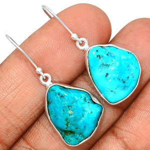 Arizona Turquoise 925 Sterling Silver Earrings Jewelry SBTE212