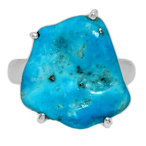 Arizona Turquoise 925 Sterling Silver Ring Jewelry s.7 SBTR1036