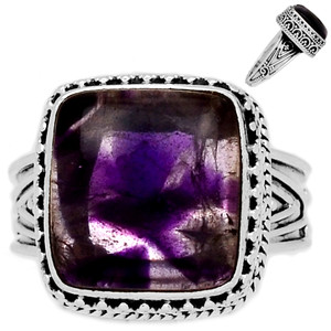 Amethyst Star 925 Sterling Silver Ring Jewelry s.9 ATSR174