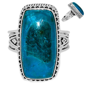 Chrysocolla Peru 925 Sterling Silver Ring Jewelry s.9 CCPR389