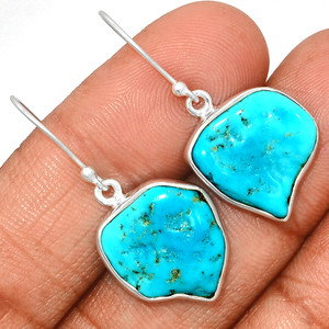 Arizona Turquoise 925 Sterling Silver Earrings Jewelry SBTE219