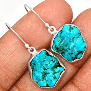 Arizona Turquoise 925 Sterling Silver Earrings Jewelry SBTE235