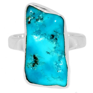 Arizona Turquoise 925 Sterling Silver Ring Jewelry s.7.5 SBTR1067