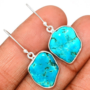 Arizona Turquoise 925 Sterling Silver Earrings Jewelry SBTE206