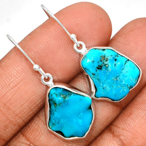 Arizona Turquoise 925 Sterling Silver Earrings Jewelry SBTE210