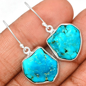 Arizona Turquoise 925 Sterling Silver Earrings Jewelry SBTE226
