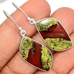 Dragon Stone 925 Sterling Silver Earrings Jewelry DGNE65