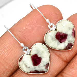 Pink Tourmaline In Quartz Cab 925 Sterling Silver Earrings Jewelry PQCE30