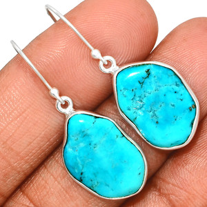 Arizona Turquoise 925 Sterling Silver Earrings Jewelry SBTE236