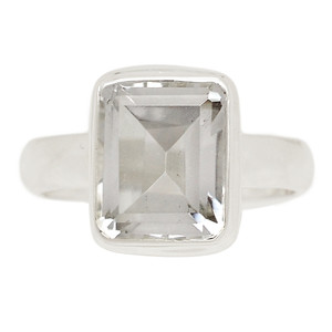 Crystal 925 Sterling Silver Ring Jewelry s.9 CRYR1404