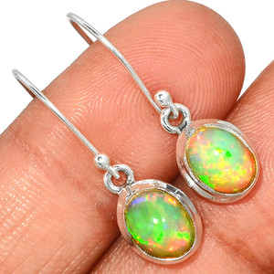 Ethiopian Opal 925 Sterling Silver Earrings Jewelry ETOE286
