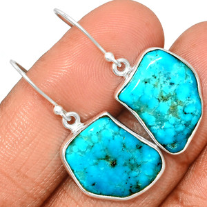 Arizona Turquoise 925 Sterling Silver Earrings Jewelry SBTE214