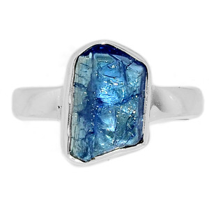 Tanzanite Rough 925 Sterling Silver Ring Jewelry s.7 TZRR775