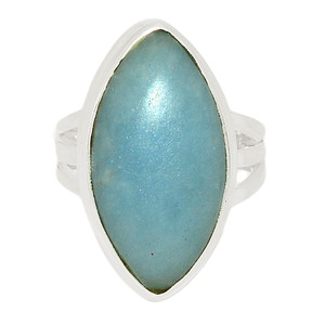 Angelite 925 Sterling Silver Ring Jewelry s.7 ANGR234