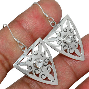 Crystal 925 Sterling Silver Earrings Stud Jewelry CRYE498