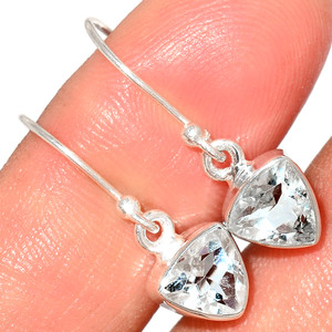 Crystal 925 Sterling Silver Earrings Stud Jewelry CRYE521